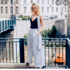Free people wide leg bohemian style pants